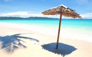 Sombrillas rusticas para playas
