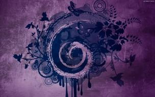 Fondo purpura y formas abstractas