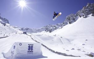 Snowboard Europa saltos
