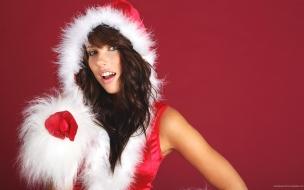 Chica bella disfrazada de Santa Claus