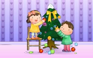 Fondos para niños en Navidad