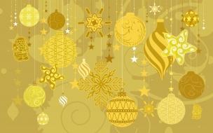 Fondo dorado con tema de navidad