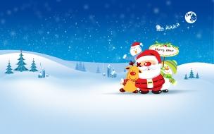 Dibujo de Santa Claus en Navidad