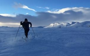 Patinando en la nieve