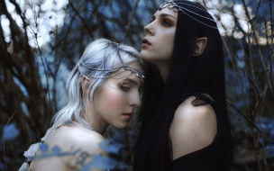 Hermosas elfos chicas 3D