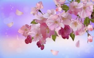 Una pintura de flores