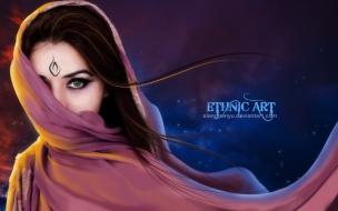 Mujer árabe hermosa