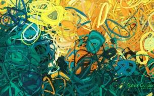 Lineas circulares abstracto