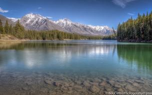 Lago Johnson en Canada