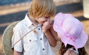 Una pareja de niños