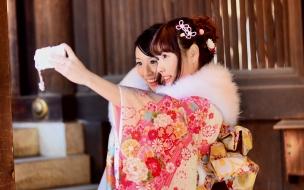 Selfie de chicas japonesas