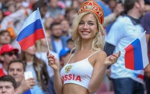 Chica rusa en el Mundial 2018