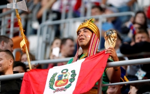 Hinchas de Perú en Rusia 2018