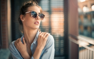 Modelo de lentes fashion