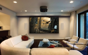 Hermosa sala para ver películas