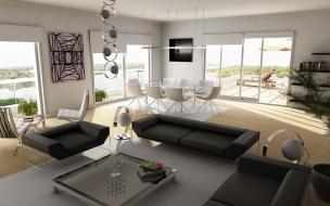 Diseño interior de una casa de campo
