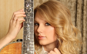 Taylor Swift y su guitarra