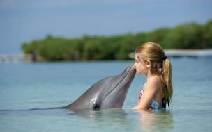 Un beso al delfín