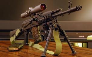 Rifle Ak-74 con mira telescópica