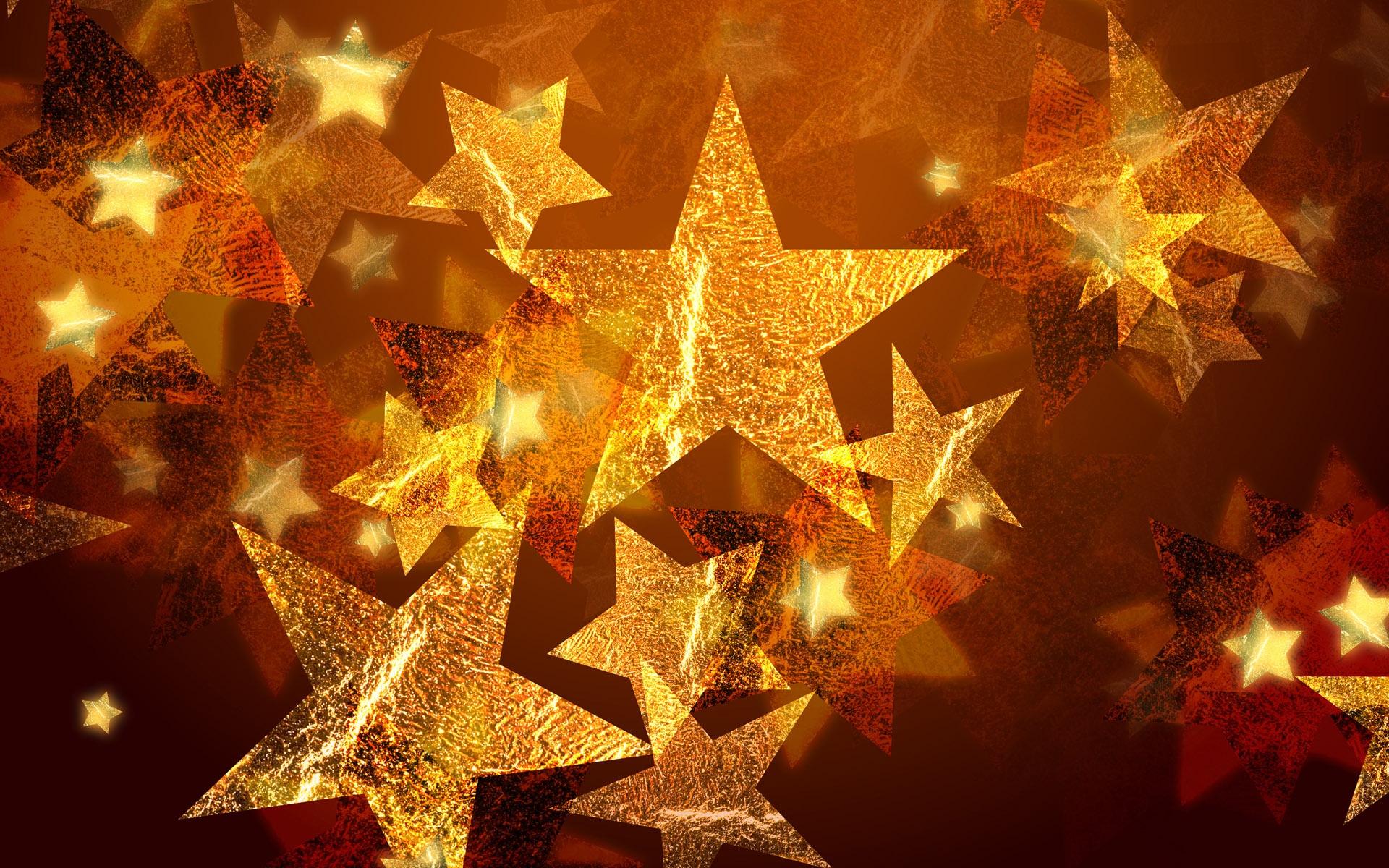 Adornos de estrellas por navidad - 1920x1200