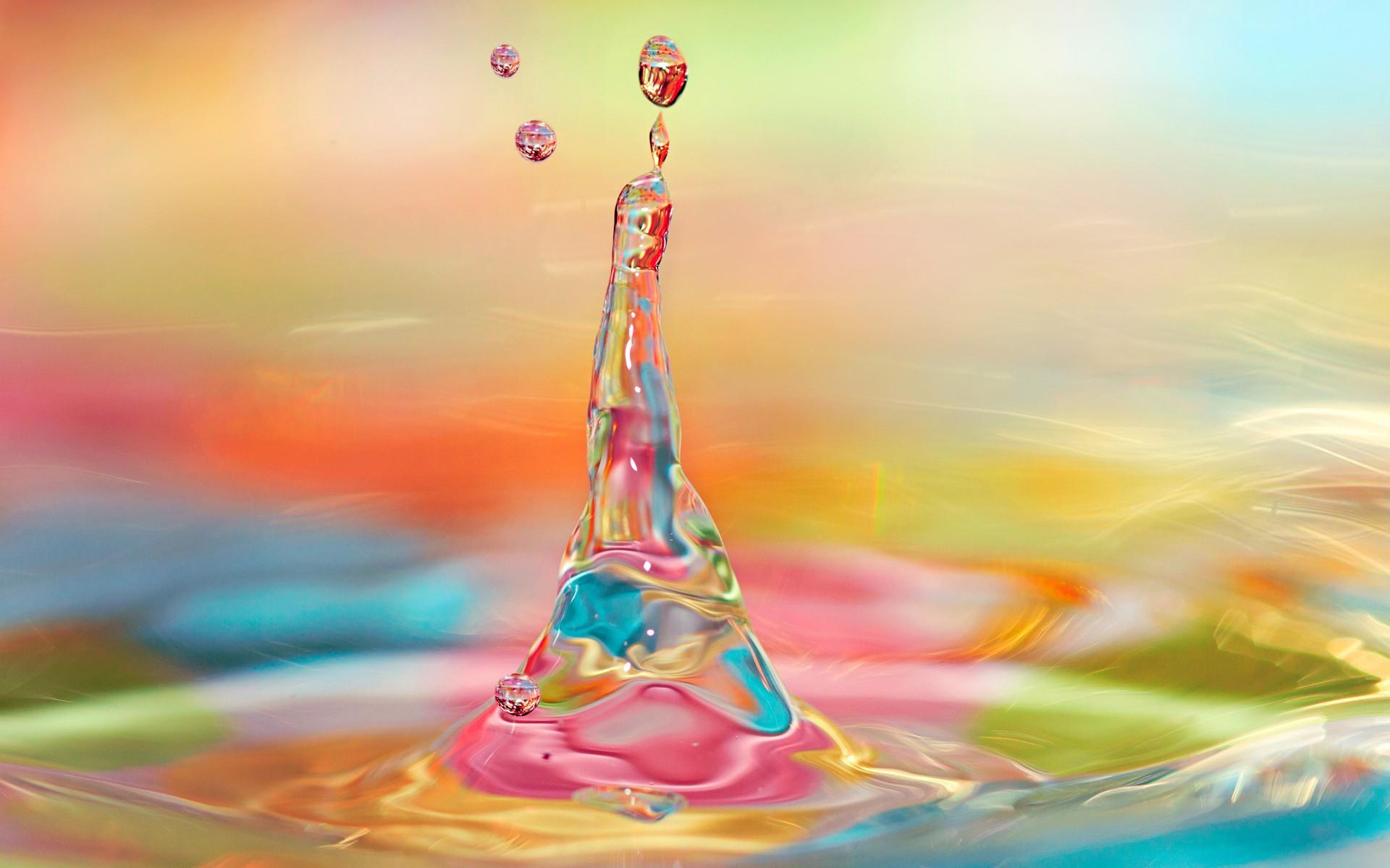 Agua y luces de colores - 1920x1200