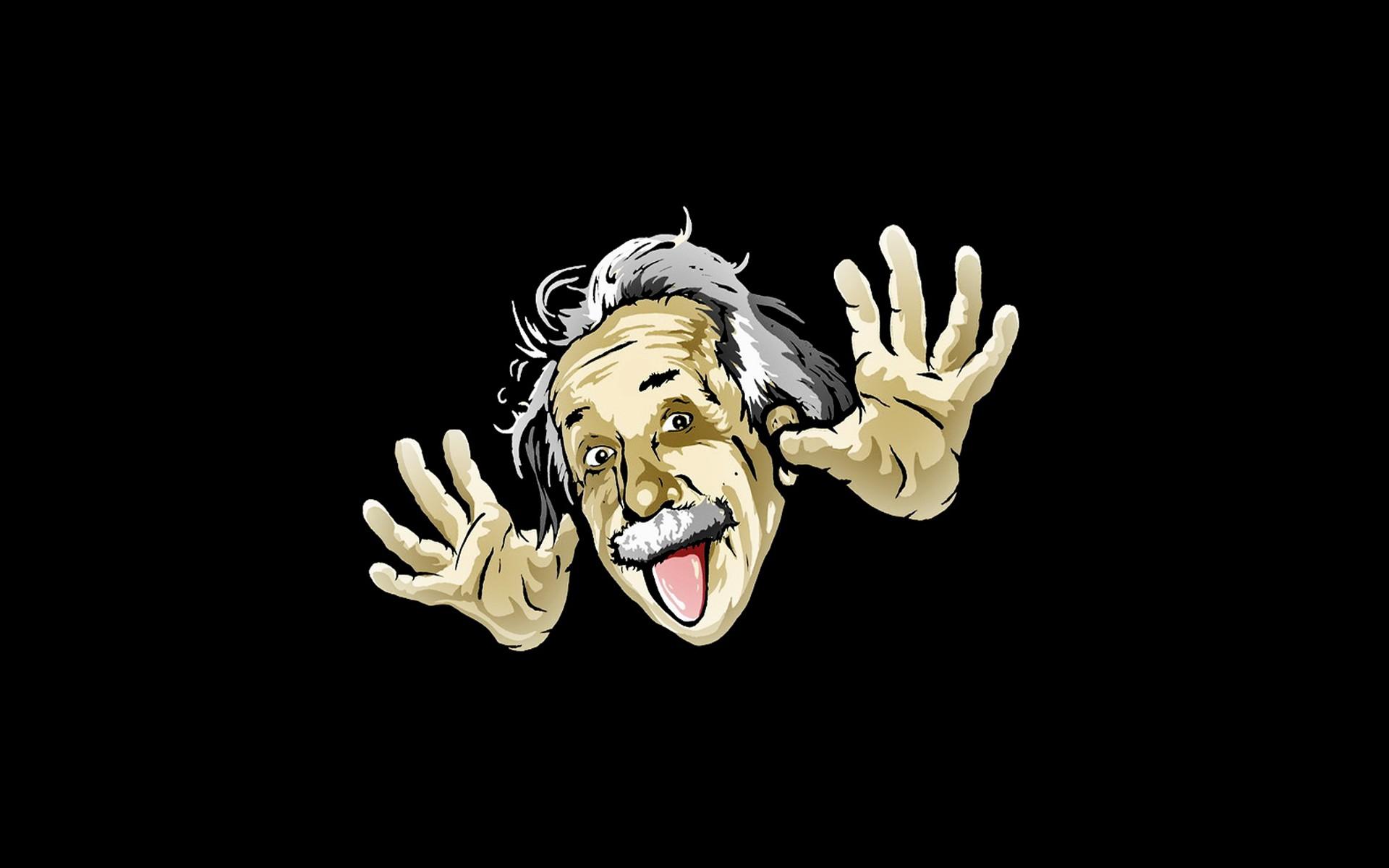 Albert Einstein parodia - 1920x1200