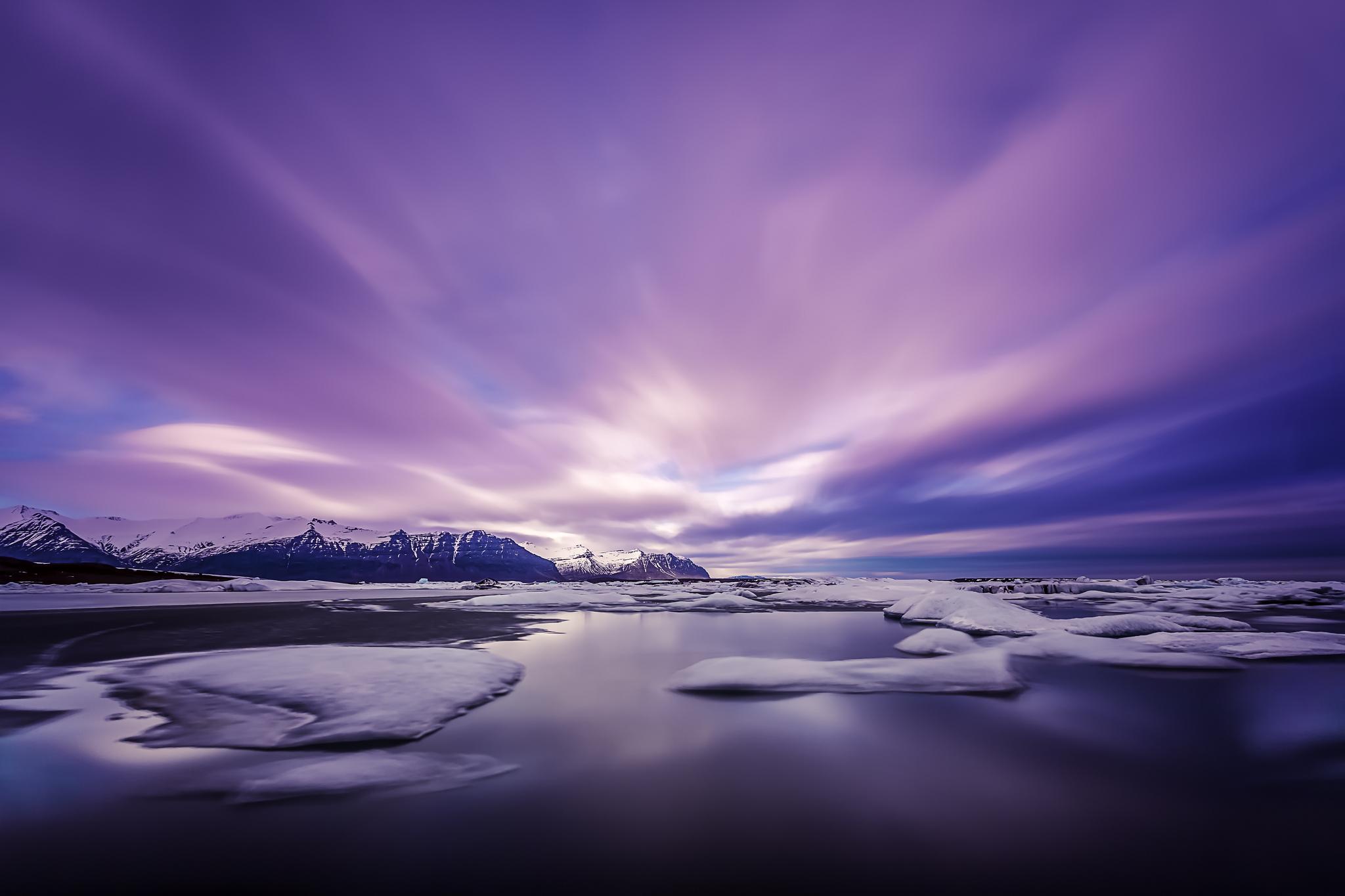Amanecer purpura - 2048x1365