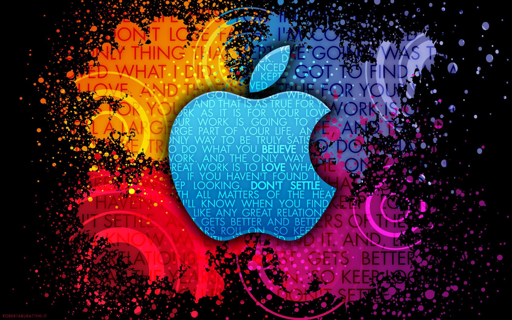 Apple Abstracto - 1680x1050