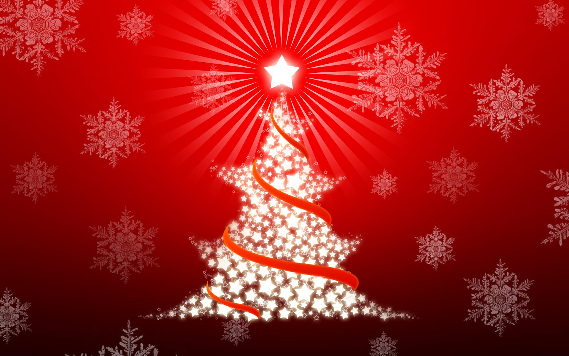 Arbol de navidad con estrellas - 1920x1200