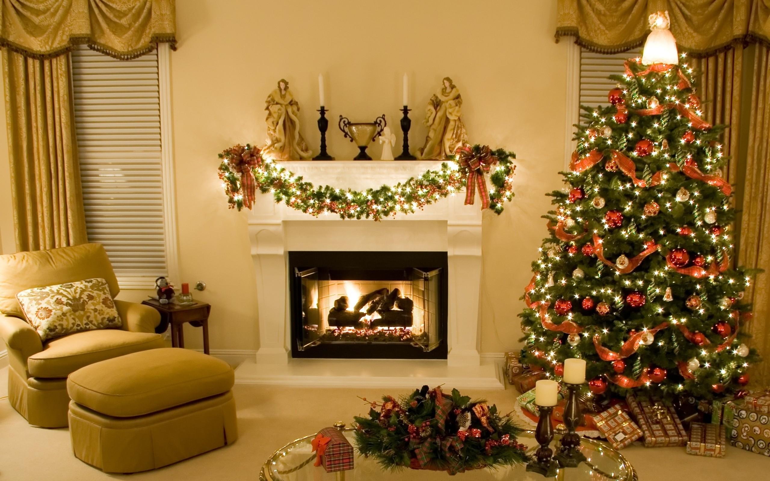 Arbol de navidad en casa - 2560x1600