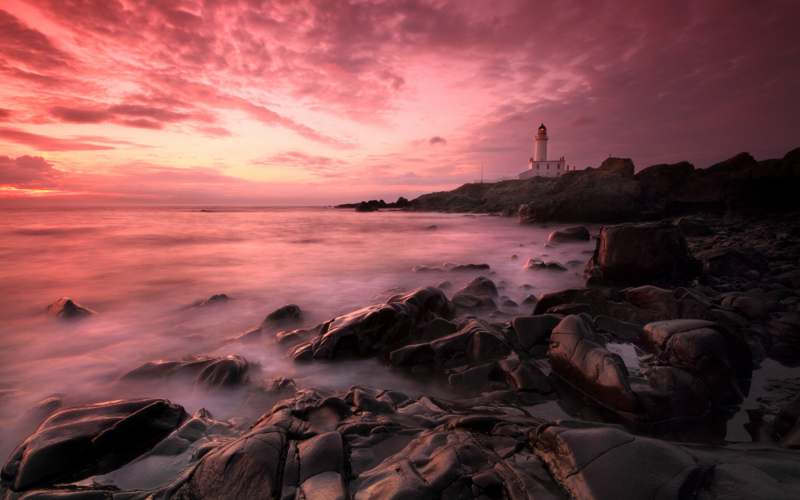 Atardeceres rosados de playas - 2560x1600