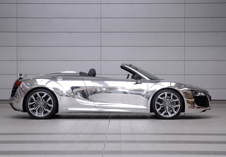 Audi R8 V10 Spyder cromado - 3000x2082
