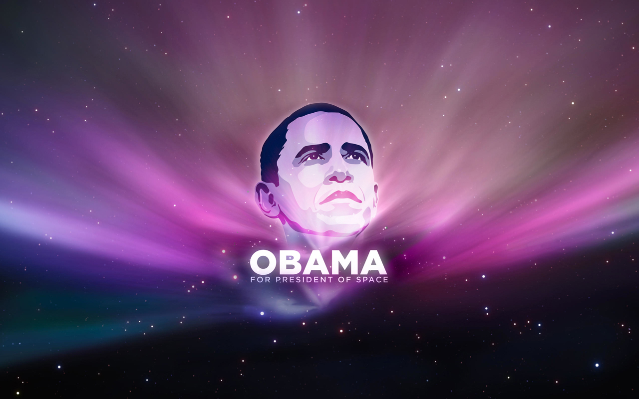 Barak Obama presidente del espacio - 1280x800