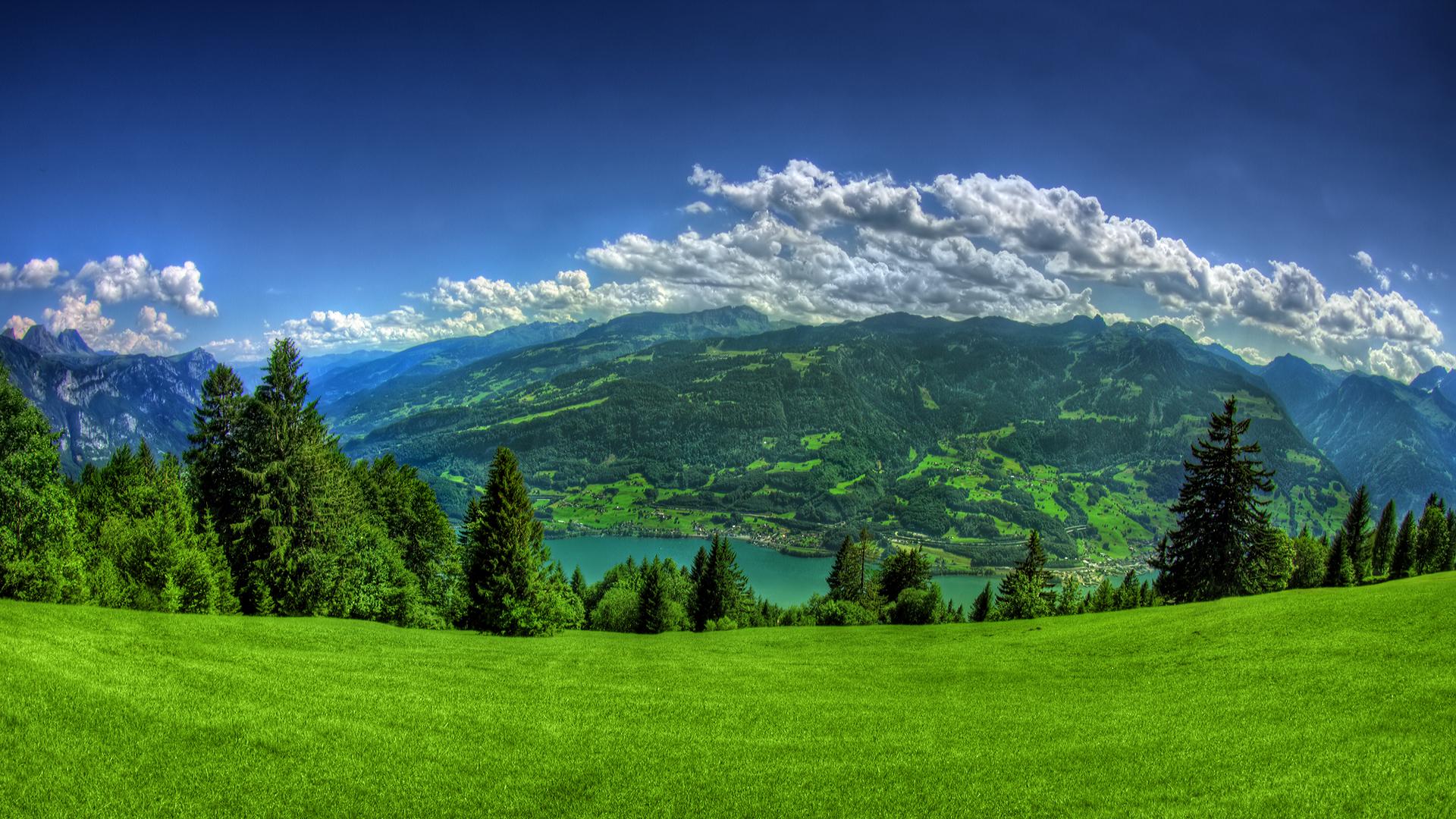 Bello valle de verde - 1920x1080