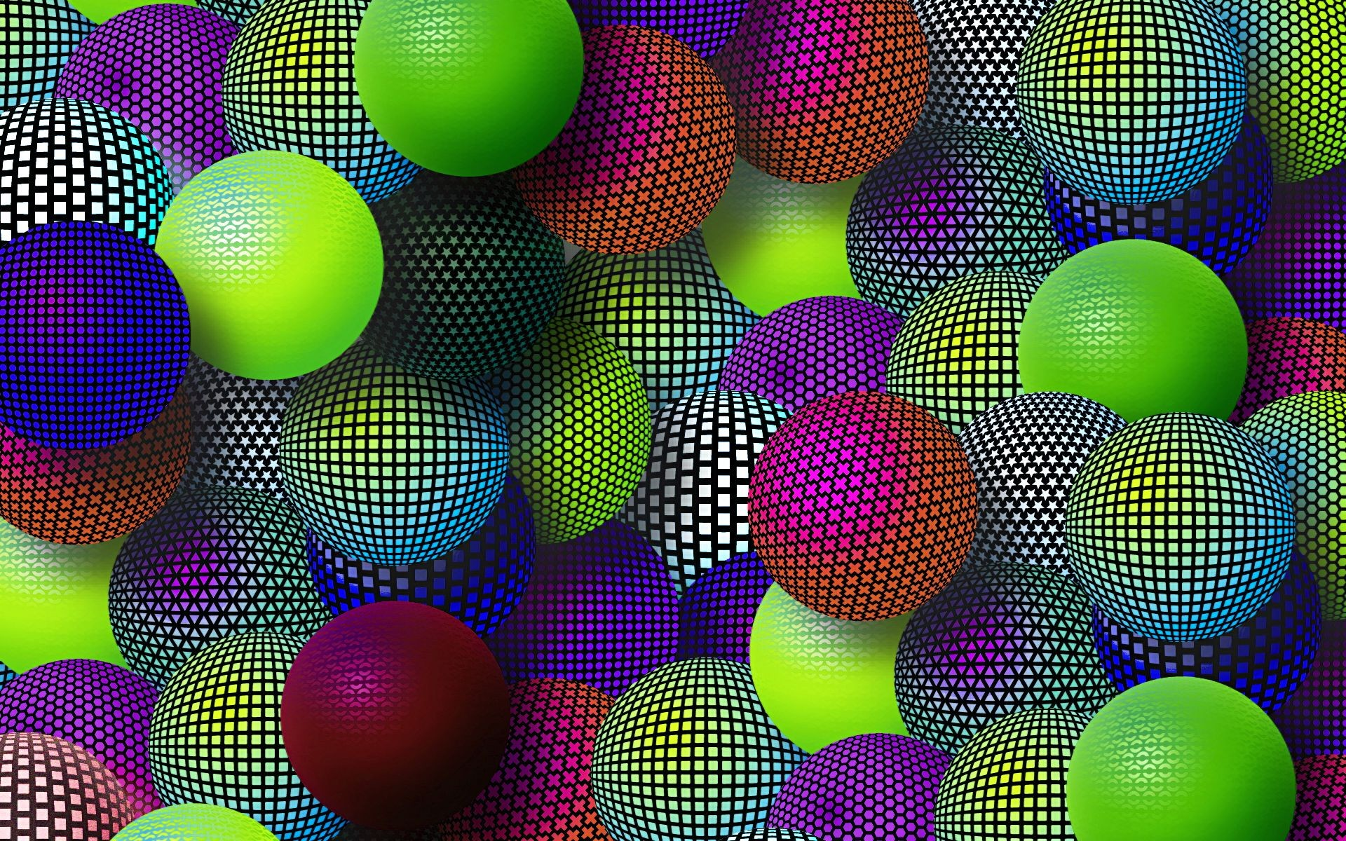 Bolas de colores digitales - 1920x1200