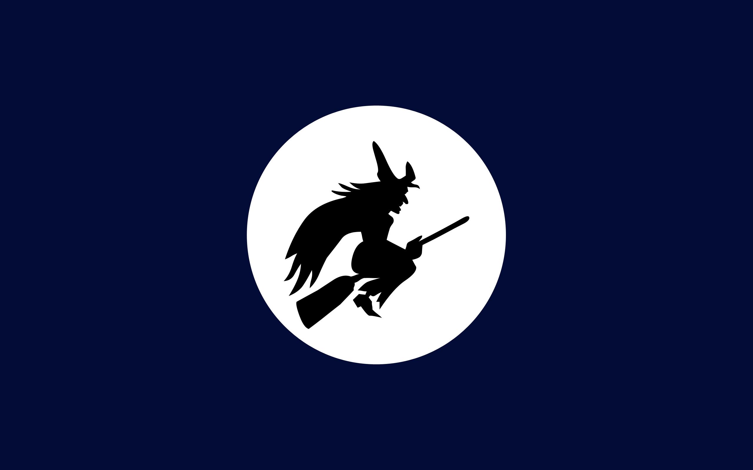 Bruja y luna llena - 2560x1600