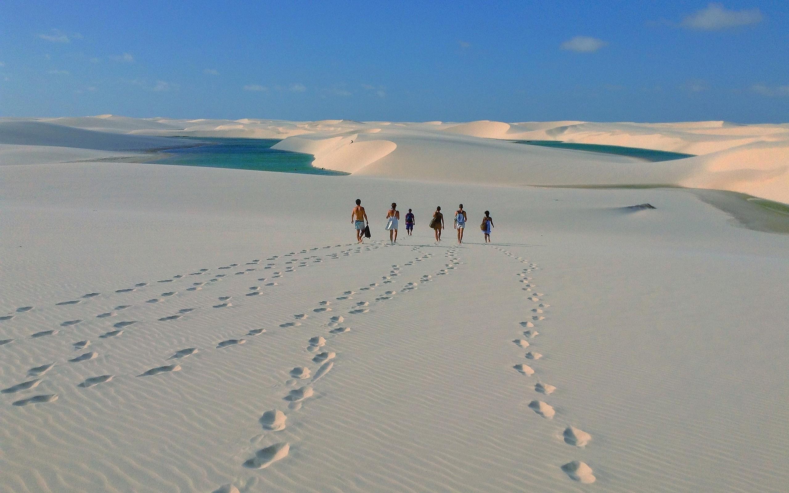 Caminata en el desierto - 2560x1600