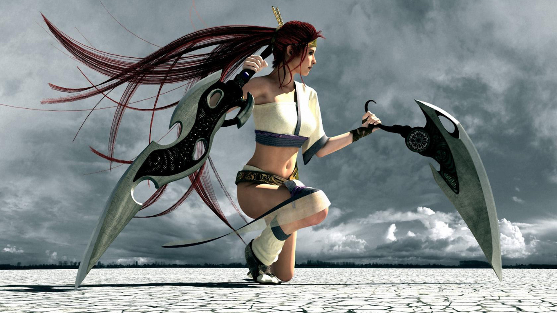 Chica de Heavenly Sword - 1920x1080