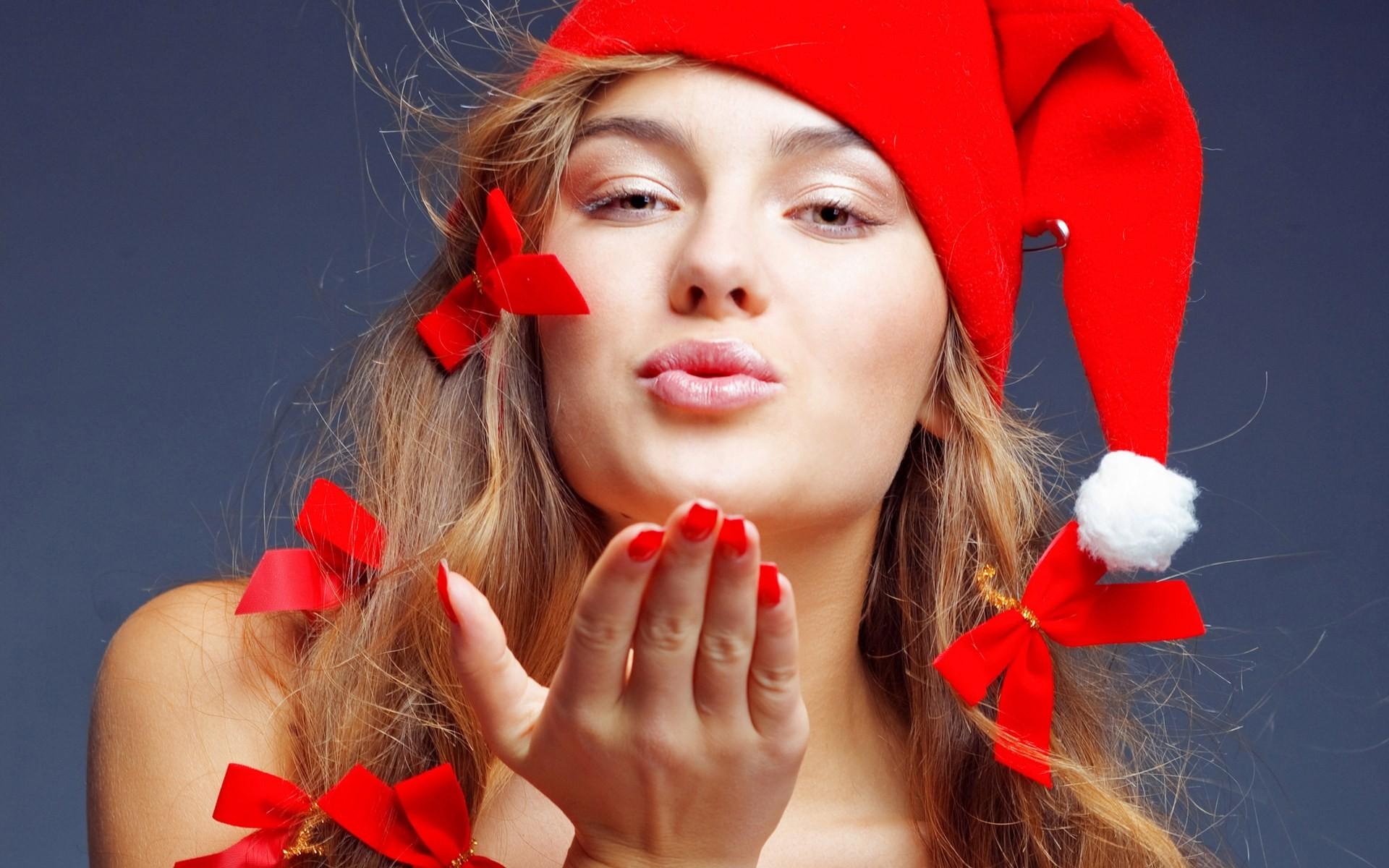 Chica disfraz de Santa Claus - 1920x1200
