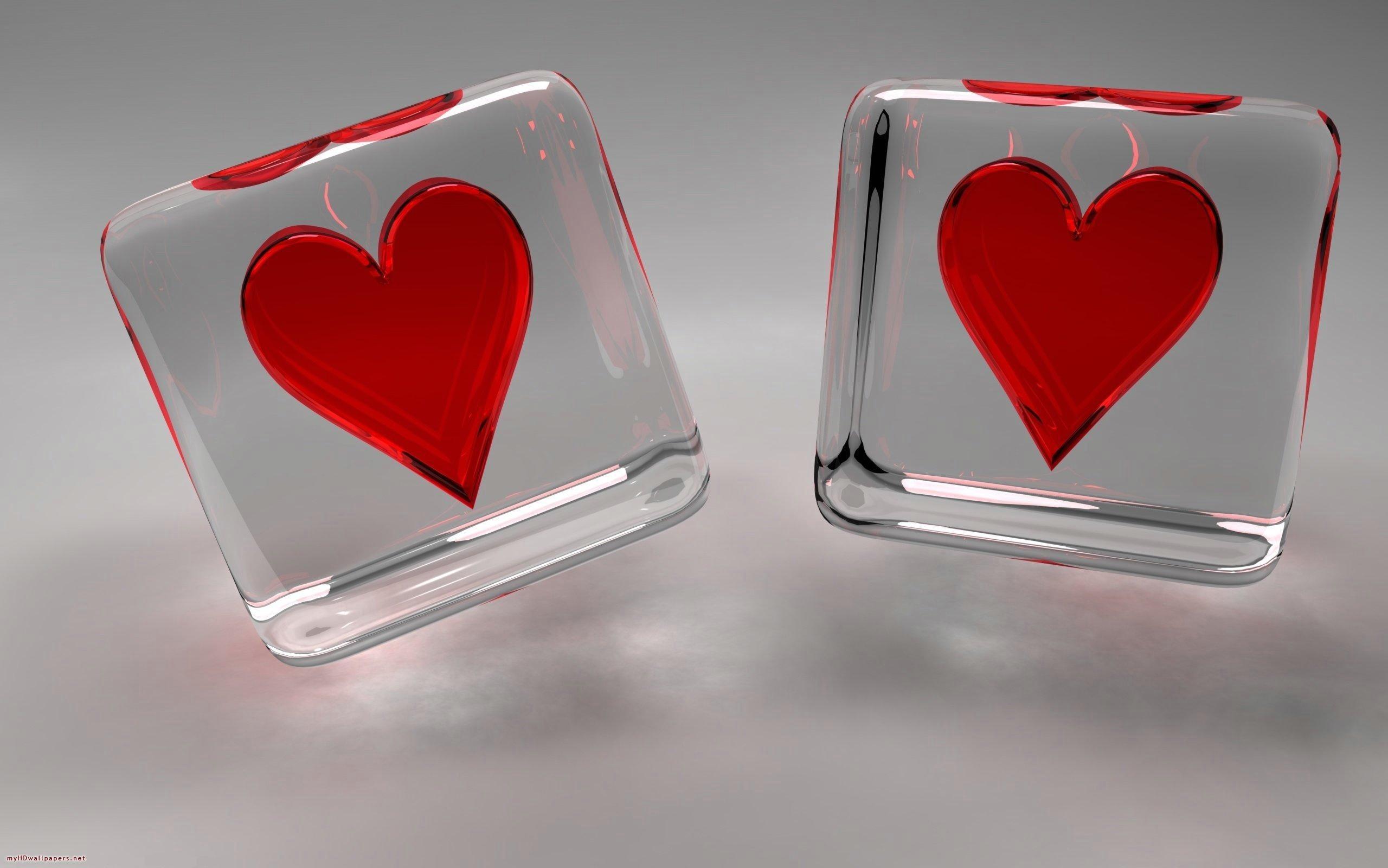 Dados de corazones - 2560x1600