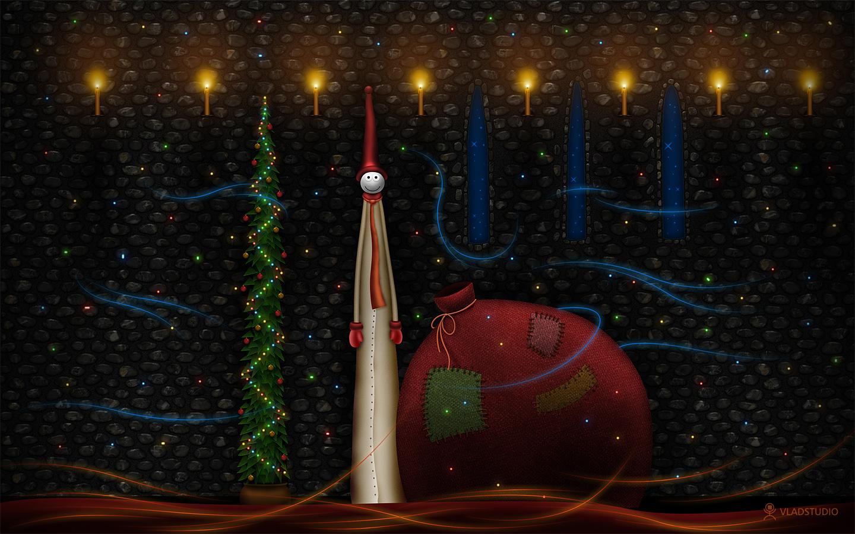 Dibujo abstracto con tema de navidad - 1440x900
