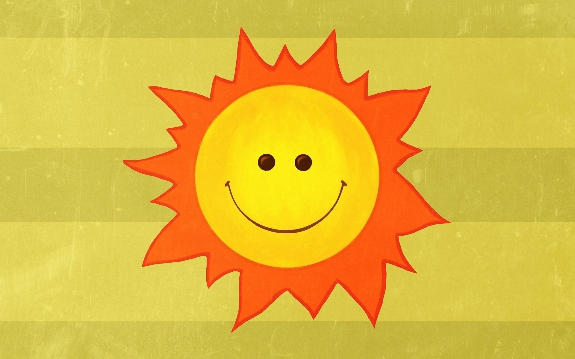 Dibujo del Sol feliz - 1920x1200