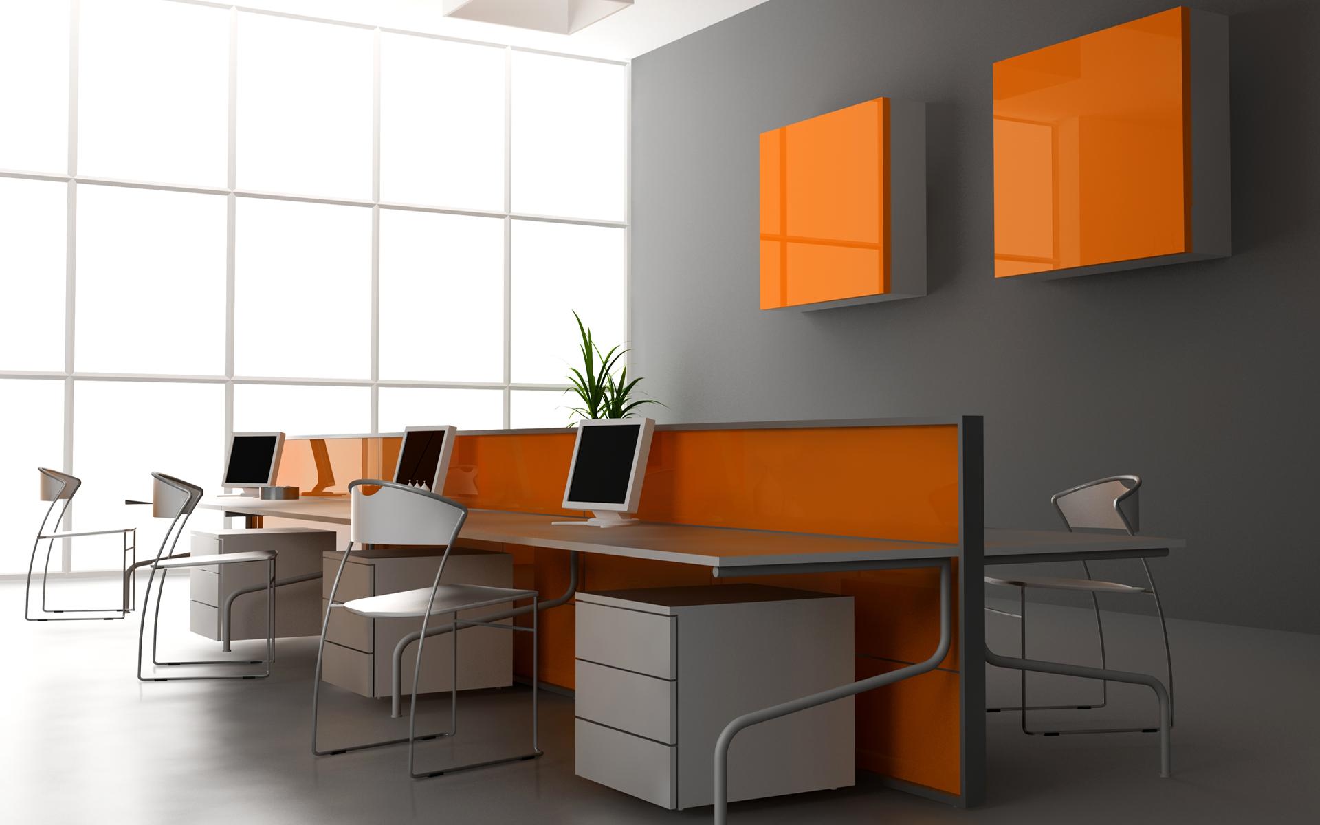 Diseño 3D de una oficina - 1920x1200