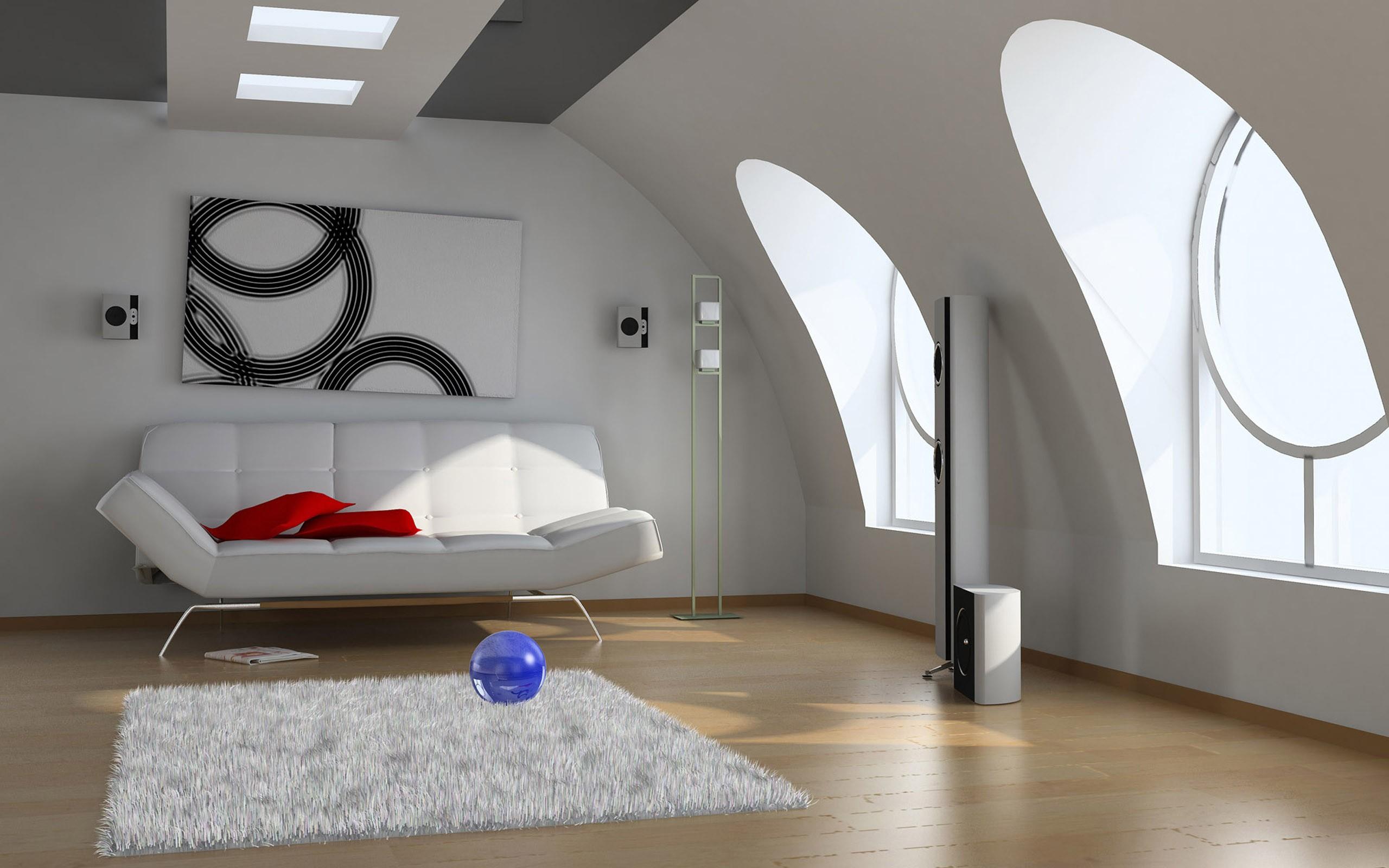 Diseño 3d de una sala - 2560x1600