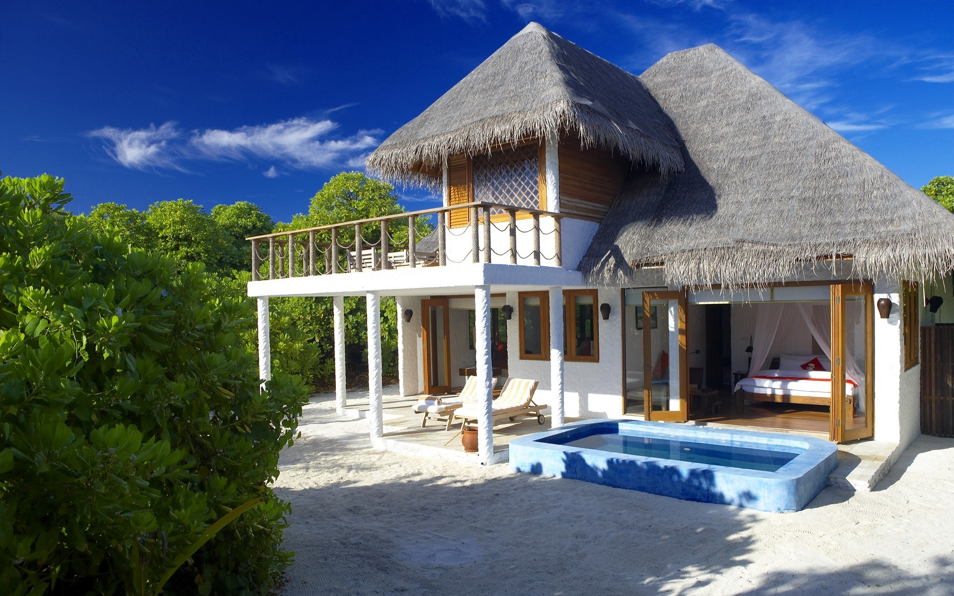 Dise o de bungalows hd 1920x1200 imagenes wallpapers for Apartamentos playa