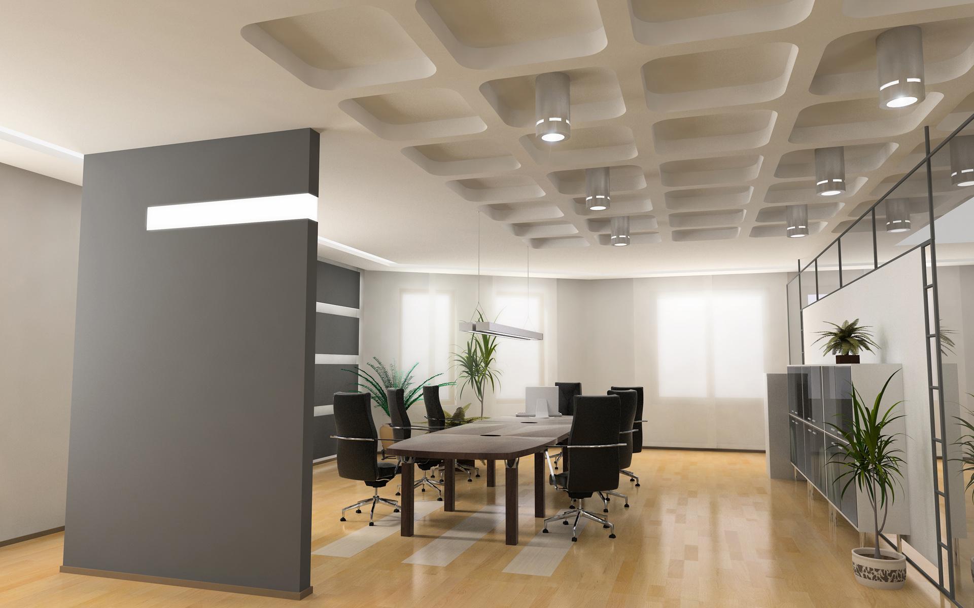Diseño de sala de reuniones - 1920x1200