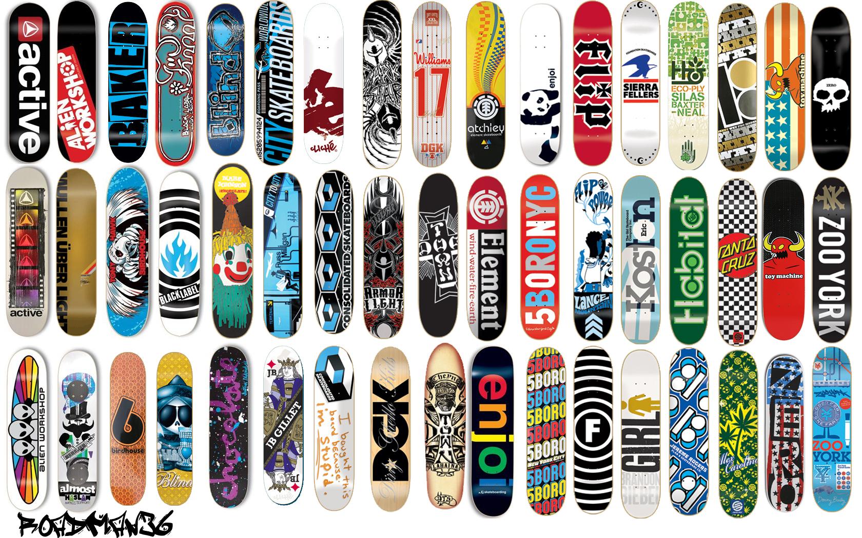 Diseño de tablas de skate - 1680x1050