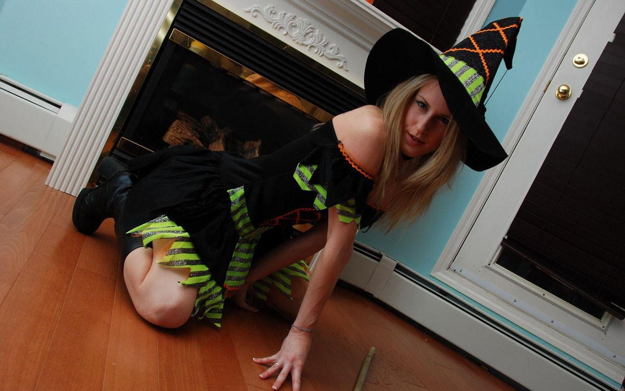 Disfraz de bruja para halloween - 1280x800