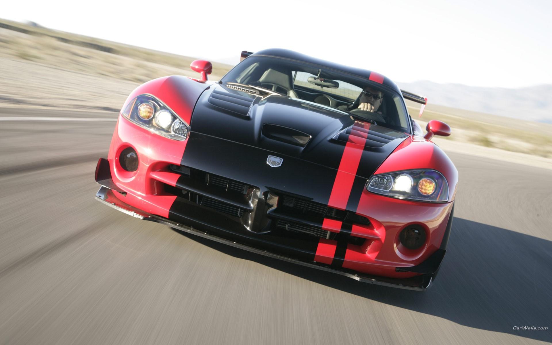 Dodge Viper rojo y negro - 1920x1200
