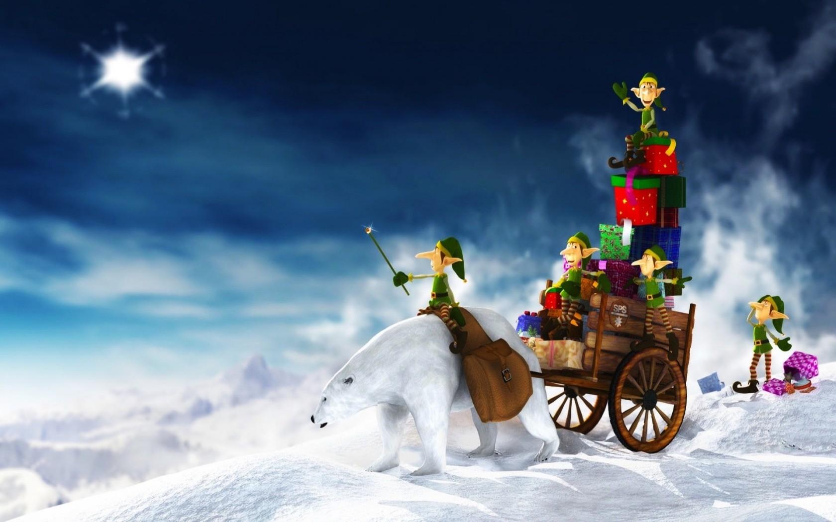 Duendes en navidad - 1680x1050